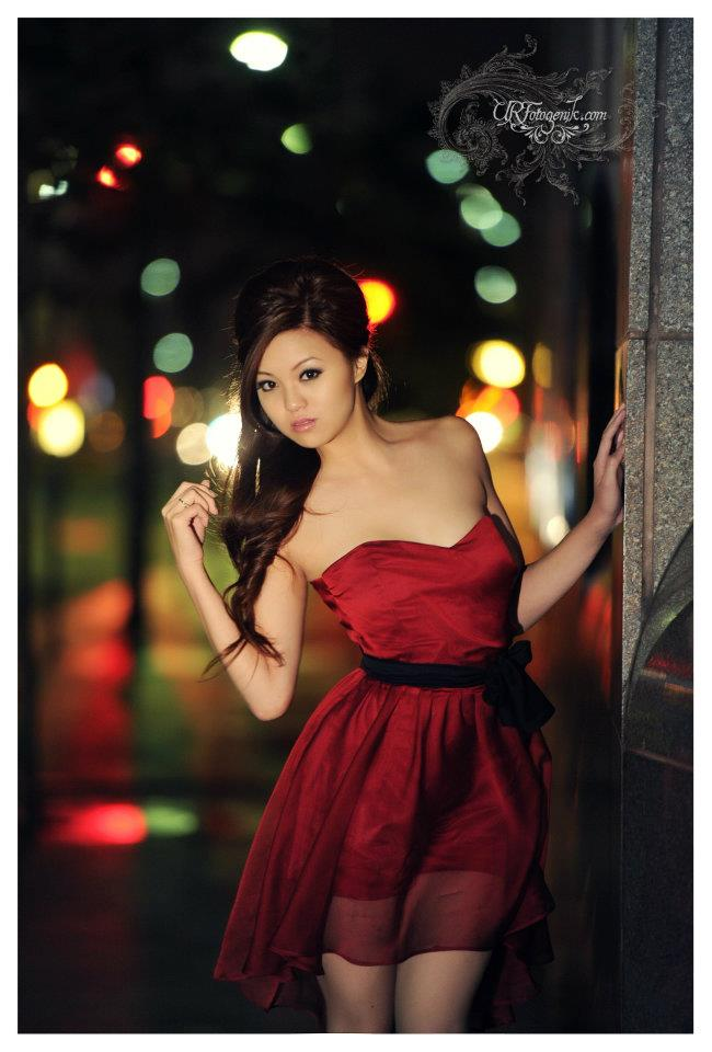 Female model photo shoot of Serena Su xoxo in DTLA