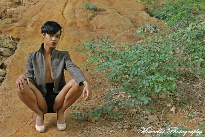 Male and Female model photo shoot of Marcellis Photography  and octavia bowers