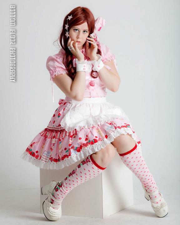 San Francisco, CA May 16, 2012 Thomas Ho Strawberry Tea -Clothing by Angelic Pretty