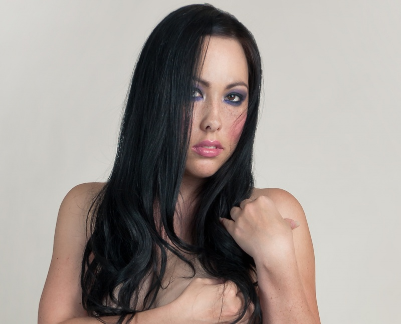 Male and Female model photo shoot of Morningstar and Alivia Autumn in In studio-Albuquerque