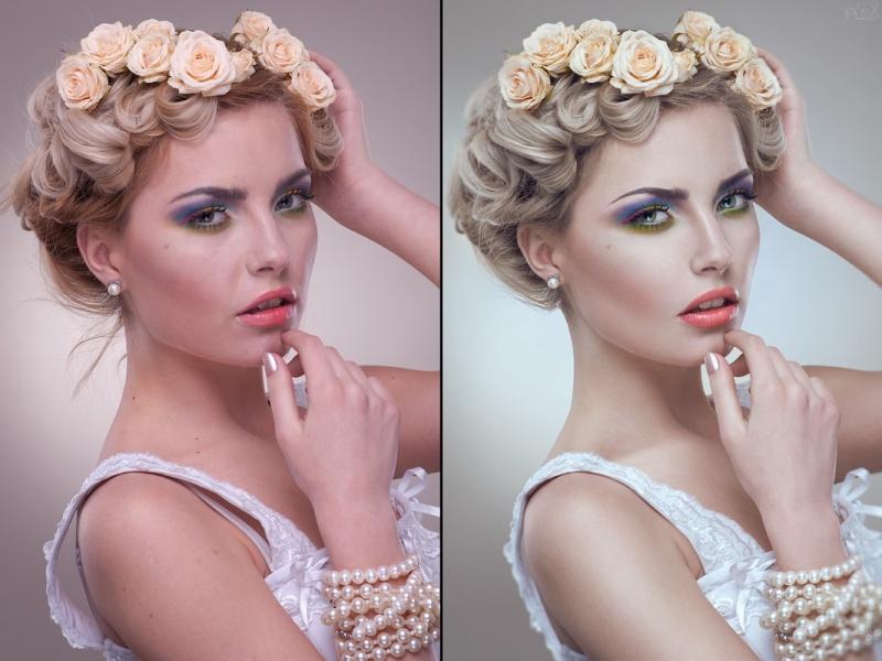 Donetsk, Ukraine May 22, 2012 Beauty retocuh