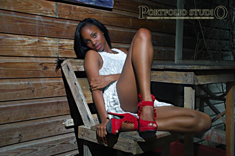 Female model photo shoot of Lasana Lewis in Roaring River