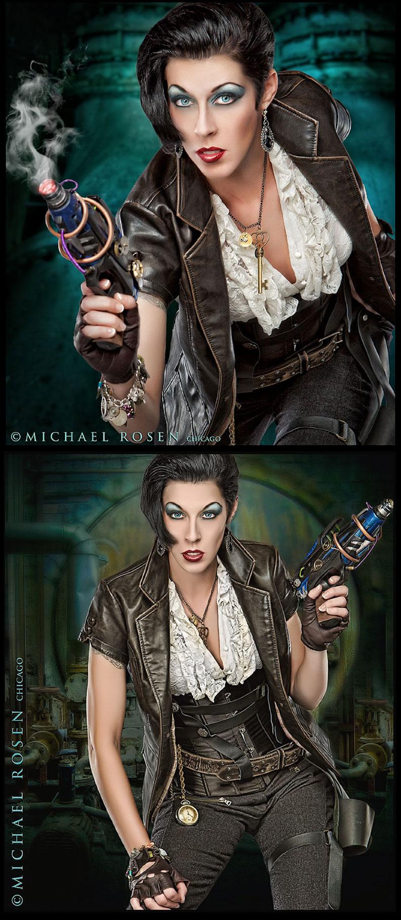 Male and Female model photo shoot of Michael Rosen - Chicago and Twig Noir in Michael Rosen Studio - Chicago