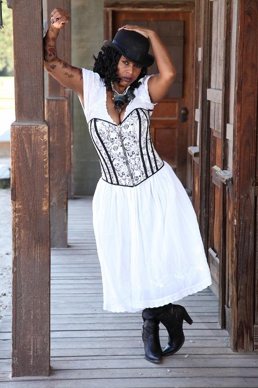 Female model photo shoot of M D Marie by Naka Ni