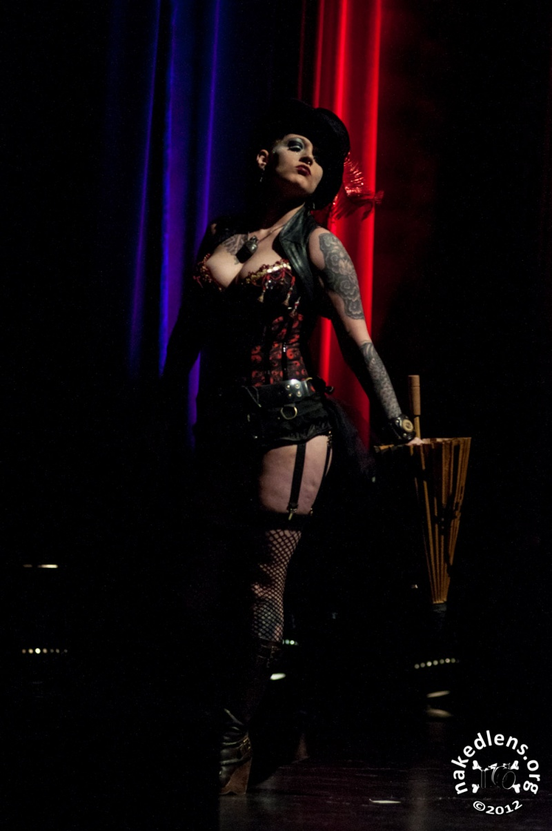 Male and Female model photo shoot of NakedLens and Ammunition in Viva Dallas Burlesque - May 2012