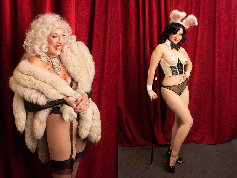 Las Vegas Jun 16, 2012 un-known @ Burlesque hall of fame 2010 w/ the late Jean Arlene