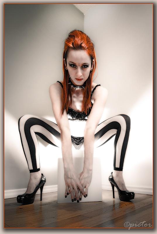 Female model photo shoot of Mango Anthropy by Pictor