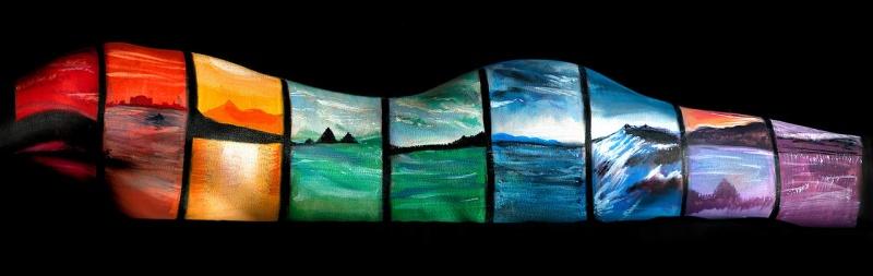 Jun 19, 2012 Jessica Yurash BodyArt 1st place-winning image - Landscape Rainbow
