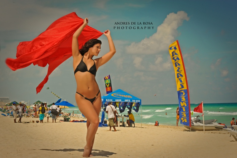 Female model photo shoot of Kerbie ONeill in Cancun Mexico