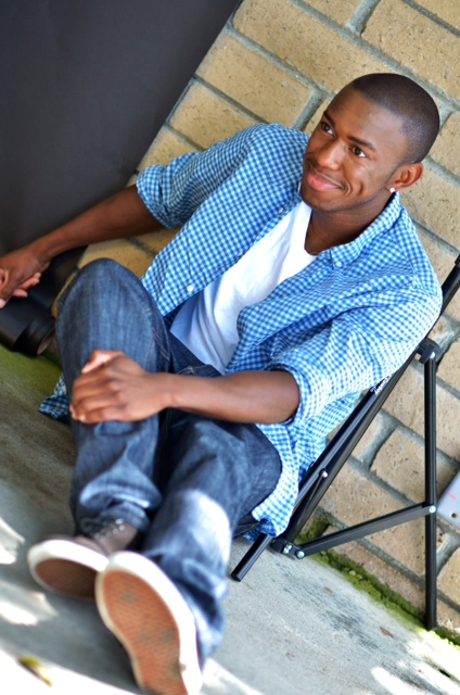 Male model photo shoot of Marquise Jones by csally  in Huntington Beach