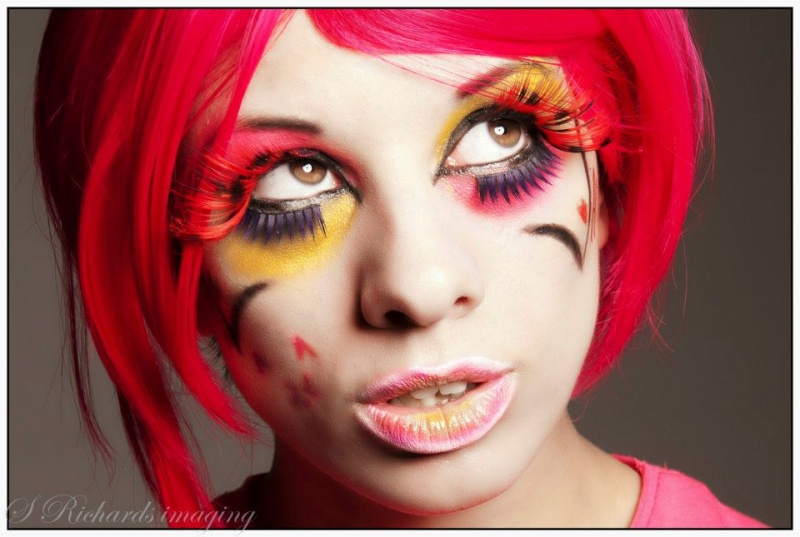 Grimsby Jun 24, 2012 Stuart Richards Close up Harajuku Make up. Photography by S. Richards Imaging. Make up by AKFX.