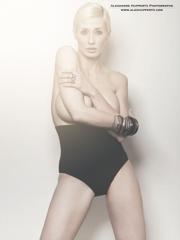 Female model photo shoot of MC Bourbonnais by Alexandre Huppertz in QC