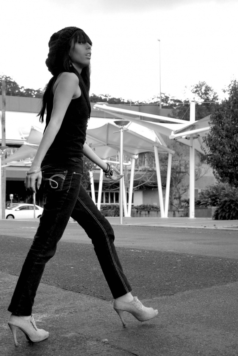 Female model photo shoot of Cal in the land of OZ