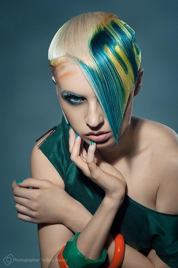 Minsk, Belarus Jul 02, 2012 Alexey Volkov, Daria Dubrovina, JadFeel Hair colors