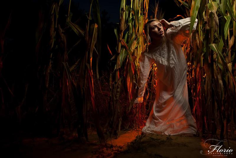 Female model photo shoot of Kaitie Hendrickson by FlorioPics dot com in Phillips Corn Maze