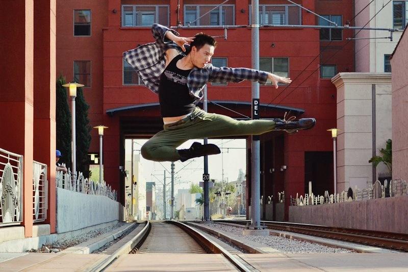 Pasadena Metro Station Jul 02, 2012 Loretta Wang Photography Action Shot for Evoke Dance Company