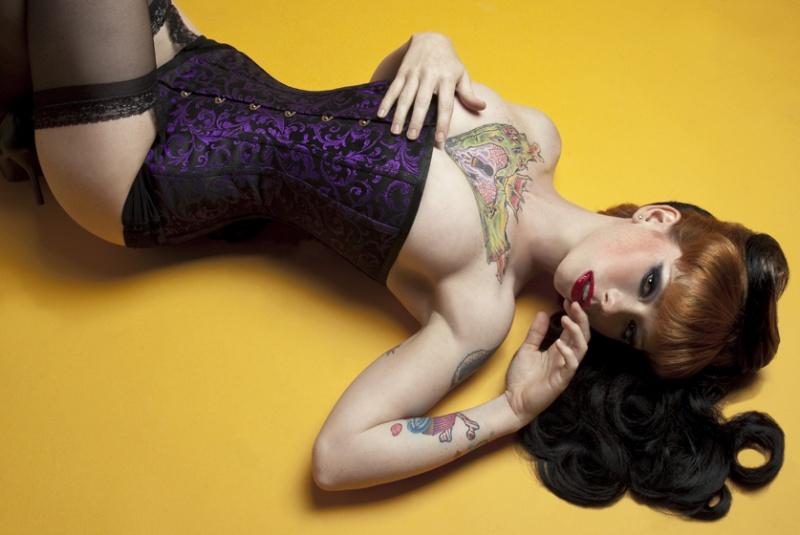 Female model photo shoot of Corset Connection in Portland, Oregon