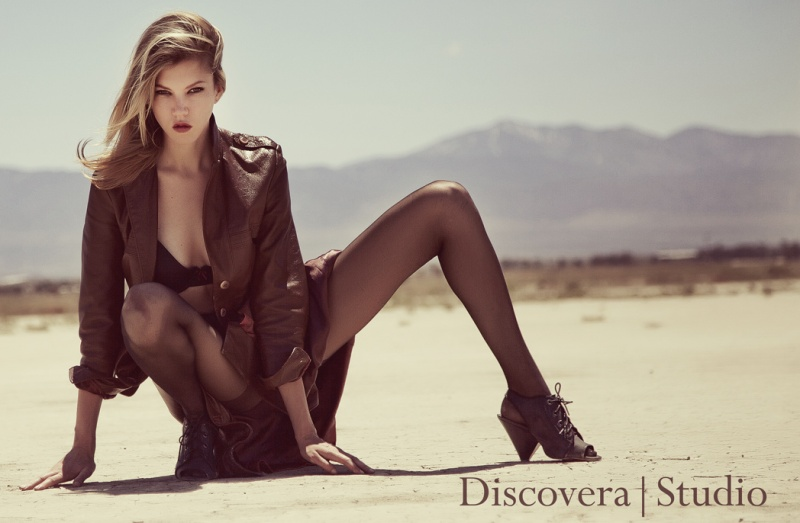 Male and Female model photo shoot of Discovera Studio and carilynn in El Mirage Dry Lake, Lancaster, California