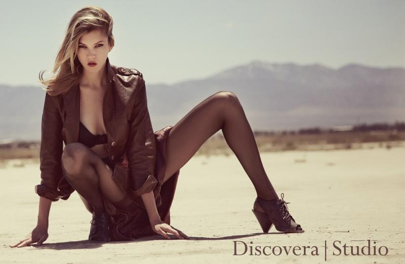 El Mirage Dry Lake, Lancaster, California Jul 05, 2012 Discovera Studio Leather Trench