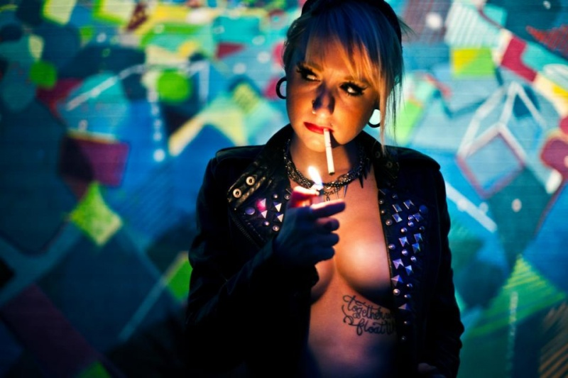 Female model photo shoot of Andi Leigh by I Must Be Dead