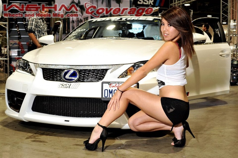 Long Beach Conventon Center Jul 16, 2012 Wheels and Heels Motions car show in front of a very nice Lexus