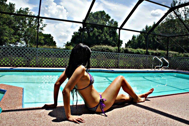 Tampa Fl Jul 17, 2012 Selina Garcia Pool Side