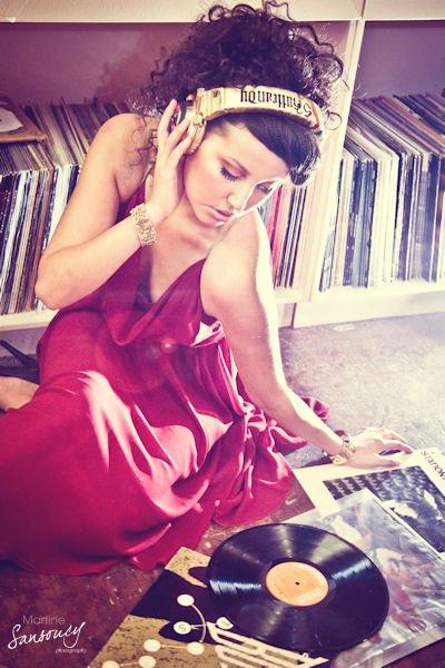 Female model photo shoot of Sasha Isabelle in Vinyl Exchange in Saskatoon S.K
