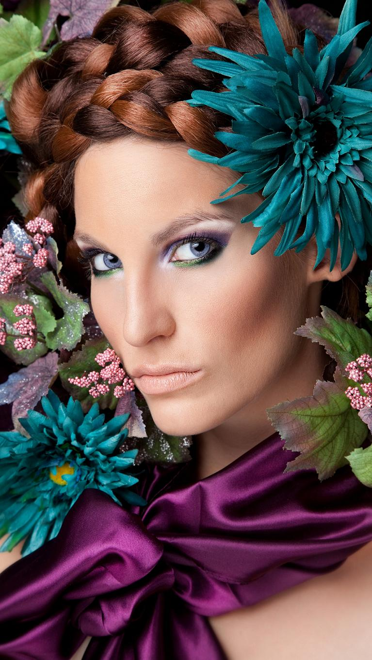 Fresno, CA Jul 29, 2012 Isaacs Eye Photography 2012 Floral Beauty MUA- Vivian Hernandez, Concept/scarf/flowers by me