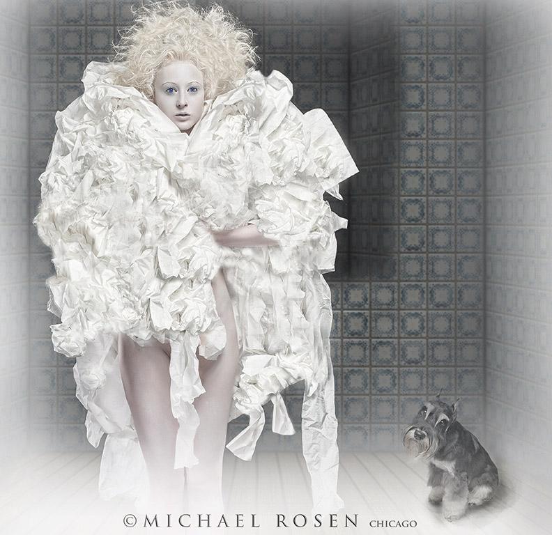 Male and Female model photo shoot of Michael Rosen - Chicago and Laura New in Rosen Studio - Chicago