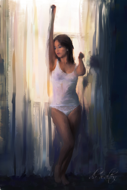 painting Aug 02, 2012 copyright 2012 db walton Mornings First Light