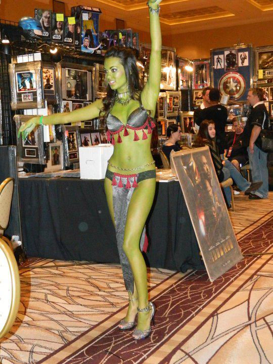 Las Vegas, NV Aug 04, 2012 Orion Slave Girl - I loves my Trek! Working for DAZ3D at a convention in Vegas!