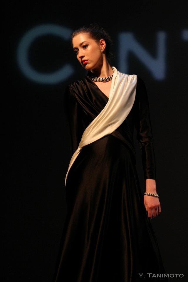 Female model photo shoot of Face Wardrobe Studios in LUX Fashion Show: Tufts University Medford, MA