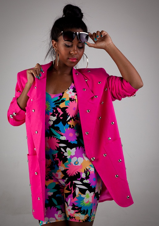 Female model photo shoot of sgb vintage, wardrobe styled by A Lauren Design