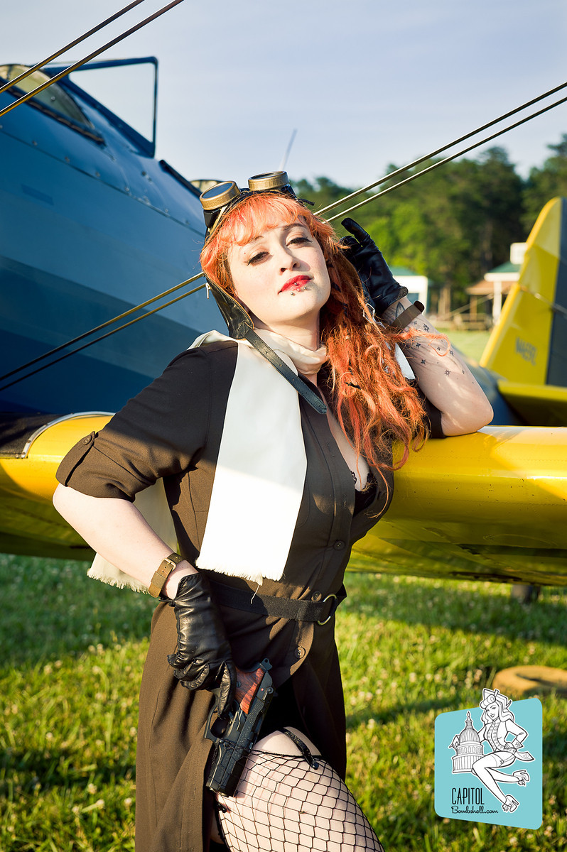 Female model photo shoot of Malice the Macabre by Luigi Crespo in Bealton Va Flying Circus