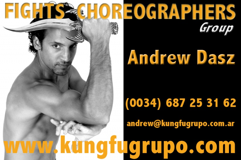 MADRID (SPAIN) Aug 08, 2012 KUNGFU GRUPO SPAIN BUSINESS CARD 2007 - ANDREW DASZ FIGHT CHOREOGRAPHER GROUP