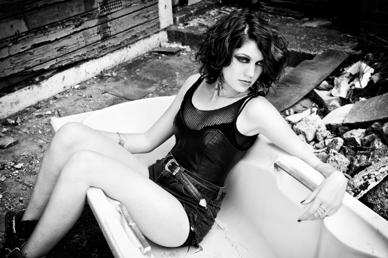 Aug 10, 2012 kate Hassens Rock/Grunge shoot for Musician Olga Botsi