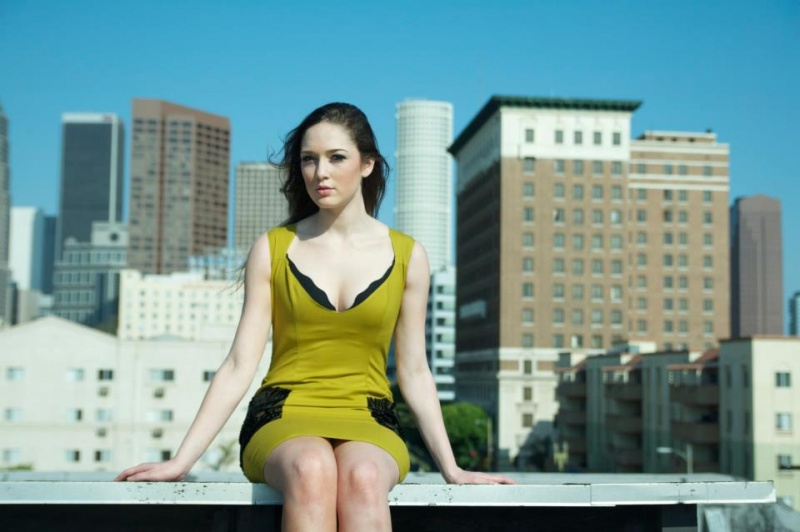 Female model photo shoot of XYST Clothing in Downtown, Los Angeles