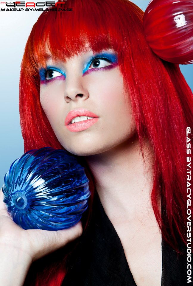 Female model photo shoot of MelaniePageMakeupDesign and Sierra Colleen by Myke Yeager Photography