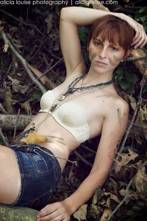 Female model photo shoot of Christiana D in Ohiopyle