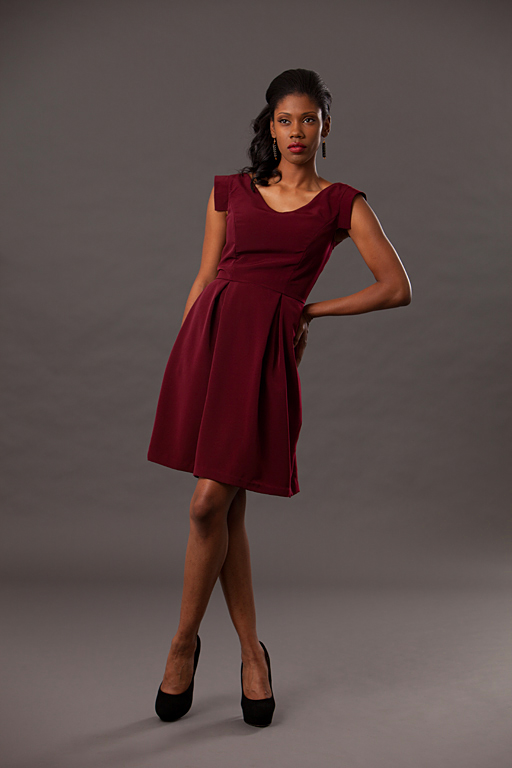 Aug 21, 2012 tab sleeve dress in burgundy, Spring 2012 collection Heartless