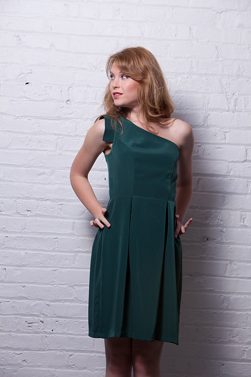 Aug 21, 2012 One shoulder dress in green, Spring 2013 collection Heartless