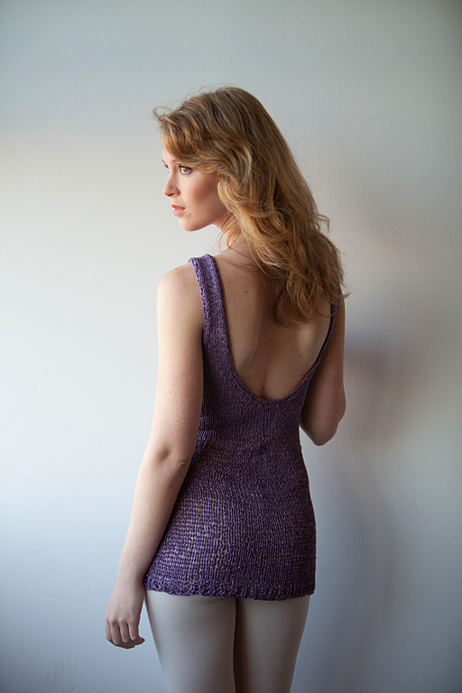 Aug 21, 2012 Backless Knit Tank in Lavender, available at trywesley.etsy.com