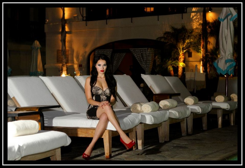 Female model photo shoot of PrettyKittyMakeup in Beverly Wilshire Hotel  Beverly Hills, Ca