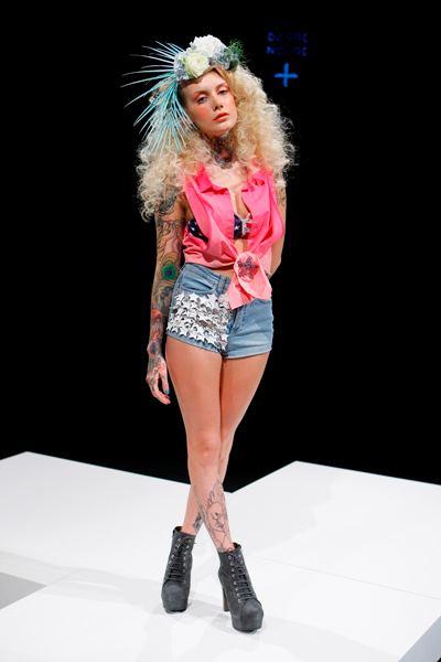 Female model photo shoot of valentina belleza in Mercedes Benz Fashion Week/Berlin S/S 2013