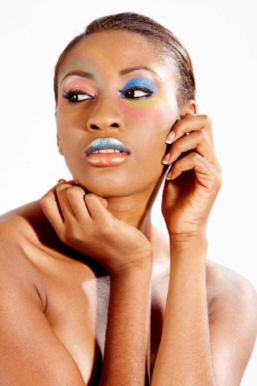 Dazzle Photos, Lagos Sep 04, 2012 Yomi Salaam painted face