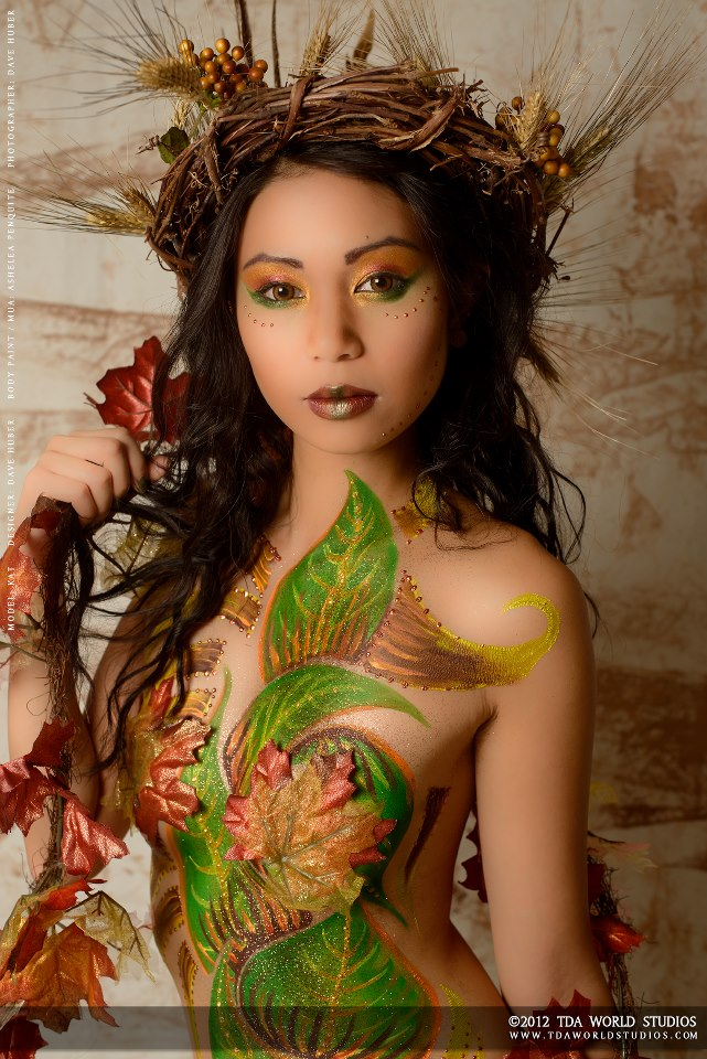 Full Scale Studios; Sep 04, 2012 TDA World Studio #2243771 Body Paint: Ashelea Penquite Art. Makeup: Kat Tenorio.