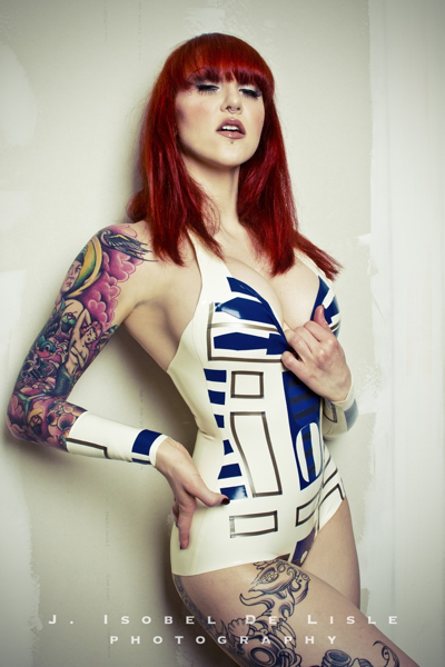 Sep 06, 2012 J. Isobel de Lisle Photography, Elegy Ellem Model R2D2 Inspired Bodysuit