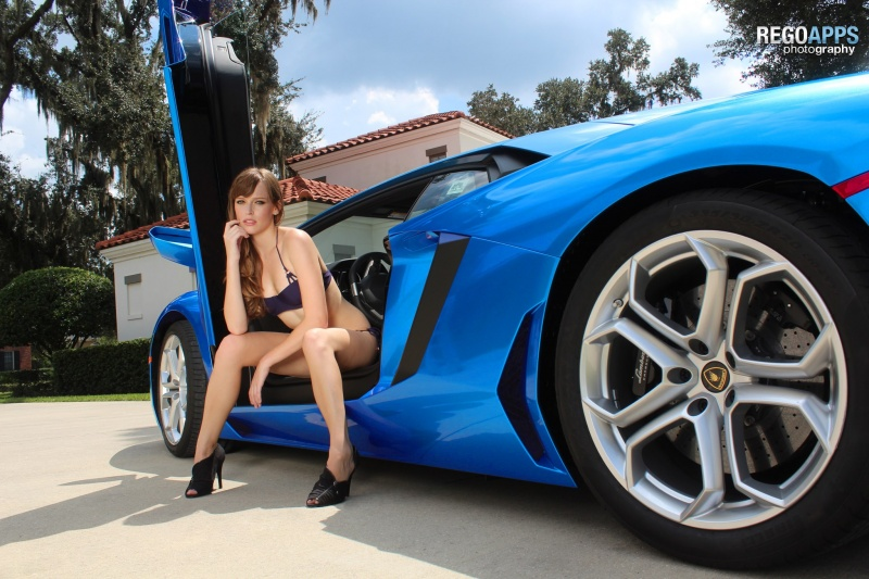 Celebration, FL Sep 08, 2012 Azure Aventador. Editing by me, view more at http://www.facebook.com/#!/pages/Model-Summers-Rose/107000909367456