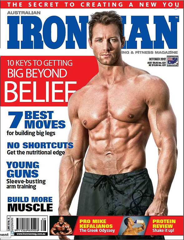 Sep 10, 2012 IronMan Magazine Cover October 2012 Australia