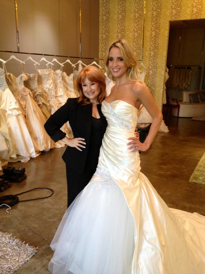 Female model photo shoot of Molly Halfacre in Renee Strauss for the Platinum Bride - Beverly Hills Boutique